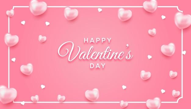 Minimalistischer valentinstag mit herzen