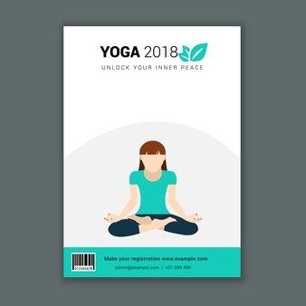 Minimalistischer yoga kurs werbeflyer