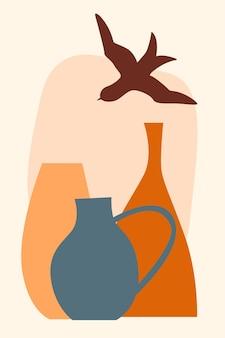 Minimalistisches boho-poster. abstrakter boho-druck für kinderzimmer-wanddekoration, kindershop-werbung, t-shirt-druck, sommer-psrty-einladung usw.