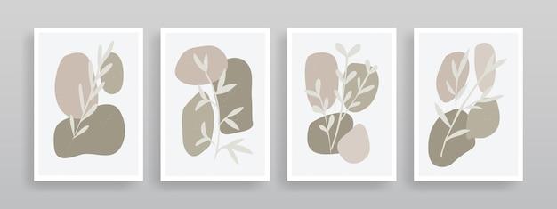 Minimalistisches botanisches wandkunstdesign