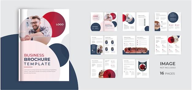 Minimalistisches business-broschüren-template-design minimalistisches mehrseitiges corporate-broschüren-layout