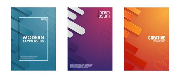 Minimalistisches cover. abstrakter geometrischer hintergrund