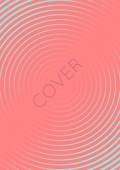 Minimalistisches cover-vorlagenset mit farbverläufen
