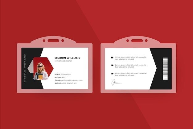 Minimalistisches design der id-kartenvorlage