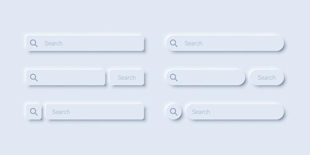 Minimalistisches design der suchleistenvorlage