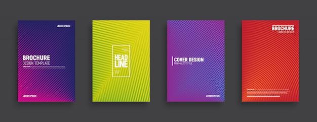 Minimalistisches design farbige broschüren