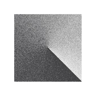 Minimalistisches designelement mit punktierter quadratischer form