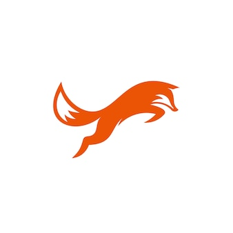 Minimalistisches fox-logo