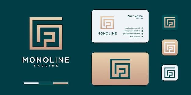 Minimalistisches g- und f-logo-monogramm, alphabet, buchstabe, anfängliche designinspiration.