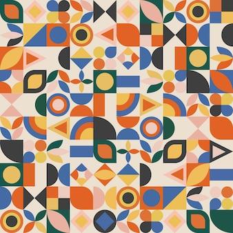 Minimalistisches geometrisches nahtloses muster mit einfachen formen