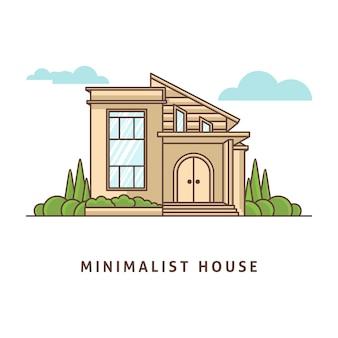 Minimalistisches hausillustrationsdesign