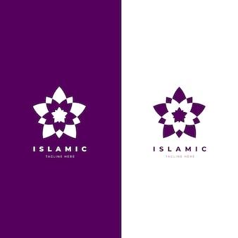 Minimalistisches islamisches logo in zwei farben