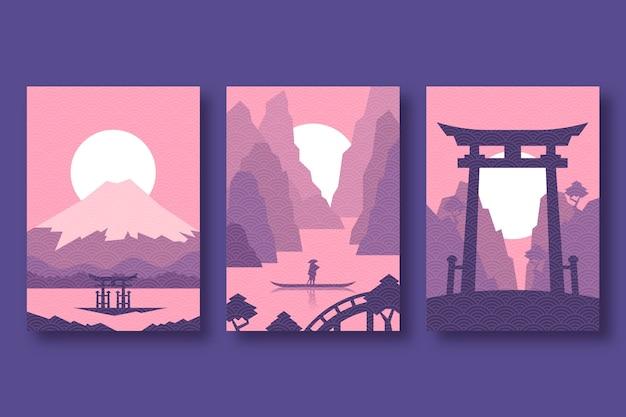 Minimalistisches japanisches cover-design