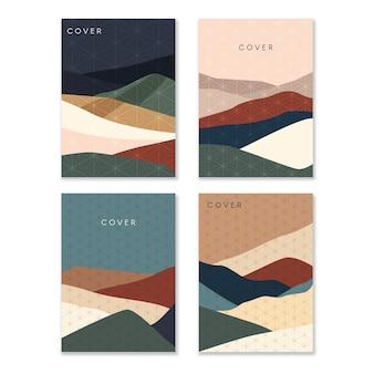 Minimalistisches japanisches cover-set