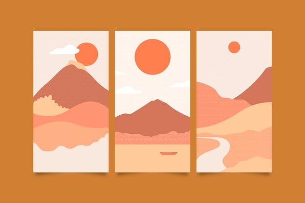 Minimalistisches japanisches design der titelsammlung