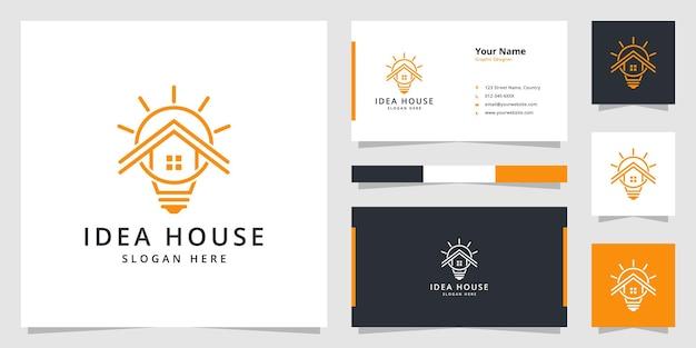 Minimalistisches logo-design des ideenhauses