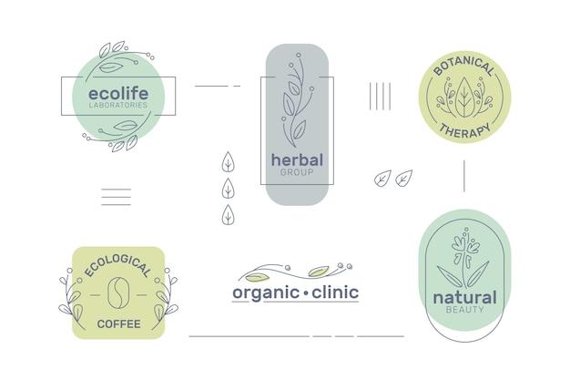 Minimalistisches logo für natürliche geschäfte