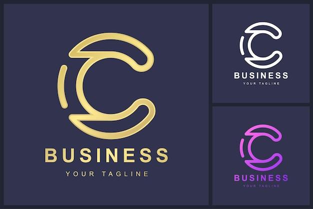 Minimalistisches logo-vorlagendesign des buchstabens c.