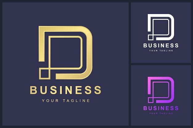 Minimalistisches logo-vorlagendesign des buchstabens d.