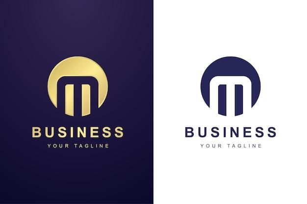 Minimalistisches logo-vorlagendesign für buchstabe m