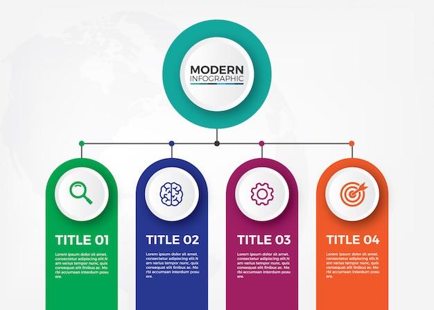 Minimalistisches organisationsdiagramm