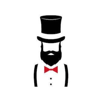 Minimalistisches porträt von gentleman.