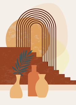 Minimalistisches poster im boho-stil