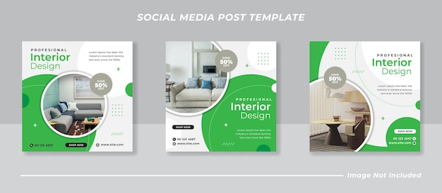 Minimalistisches social-media-instagram-feed-post-banner-bundle