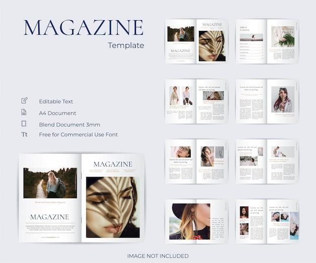 Minimalistisches und klares modemagazin