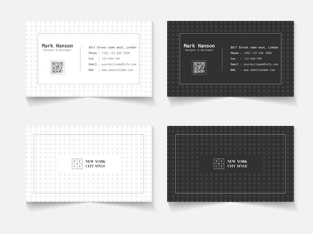 Minimalistisches visitenkarten-design