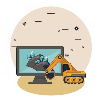 Mining-höhlen-cartoons