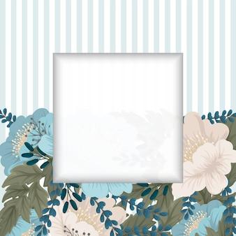 Mintgrüner blumenhintergrundblumenrand