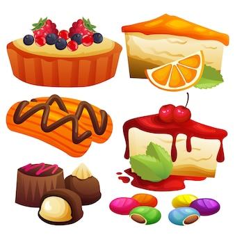 Mischkuchen und süßigkeiten element