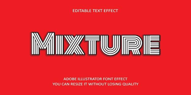 Mischungs-vektor-editierbarer text-effekt-guss auf rot