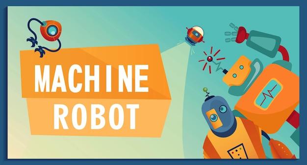 Mit comic-robotern abdecken