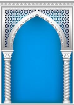 Mit dem arabischen bogen bedecken
