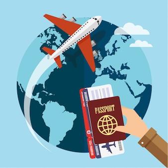 Mit dem flugzeug um die welt reisen