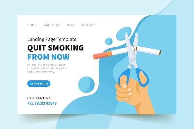 Mit dem rauchen aufhören von jetzt landing page