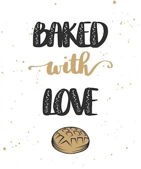 Mit liebe gebacken mit brot