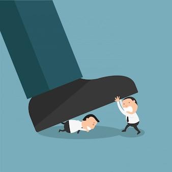 Mitarbeiter, die sich gegen die behörde oder den schlechten chef am arbeitsplatz wehren