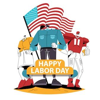 Mitarbeiter für labor day usa