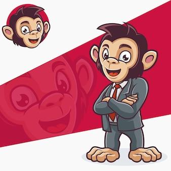 Mitarbeiter labour monkey schimpansengeschäft