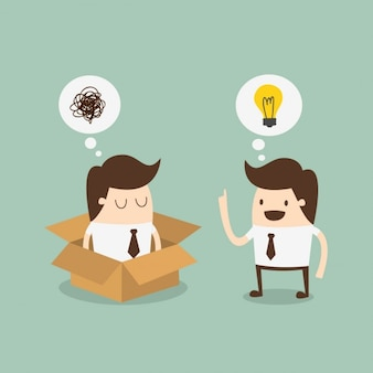 Mitarbeiter über eine idee zu sprechen