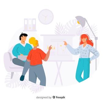 Mitarbeiterkonzept für zielseite