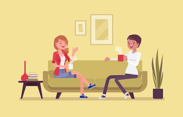 Mitbewohner freunde leben gerne zusammen