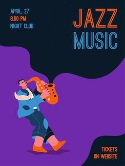 Mitglied der jazzband, das musik beim festival, konzert oder auf der bühne spielt.