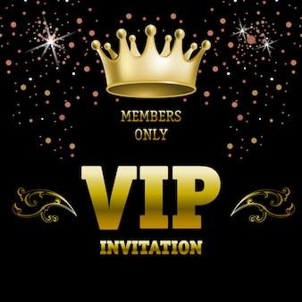 Mitglieder nur vip-einladung schriftzug