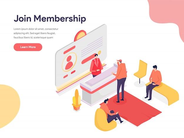 Mitgliedschafts-illustrations-konzept
