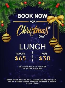 Mittagsmenü für weihnachten