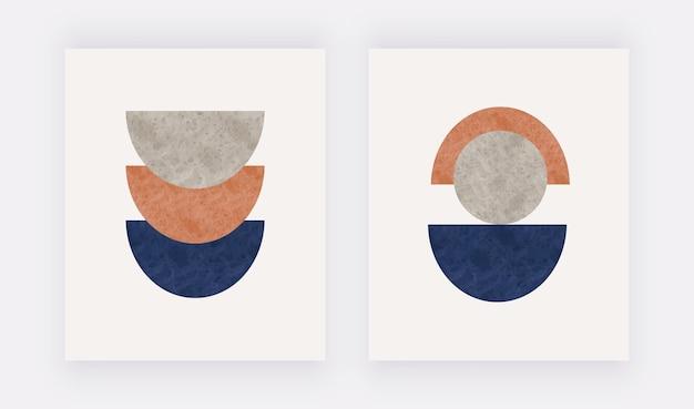 Mitte des jahrhunderts design mit abstrakten formen moderne hauptwandkunst